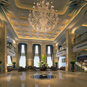 现代欧式简约大型2016商务酒店装修效果图