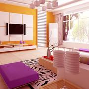 粉色调客厅设计大全