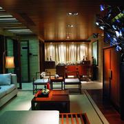 深色调客厅设计大全
