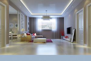 三居室田园风格客厅装修效果图
