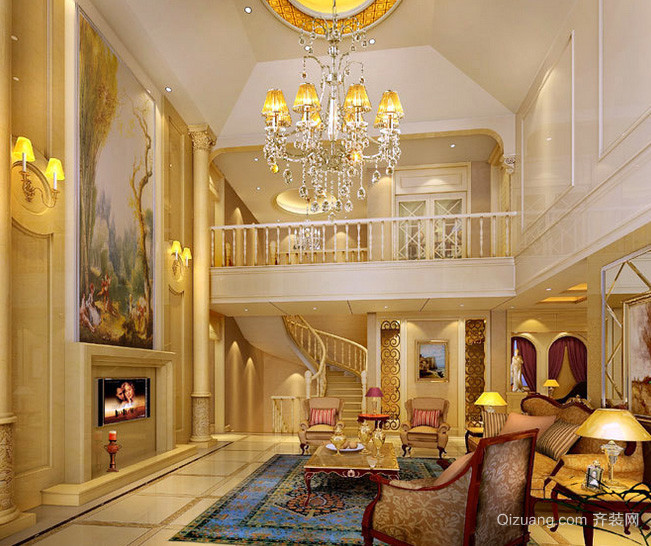 深色调私人别墅设计装修效果图