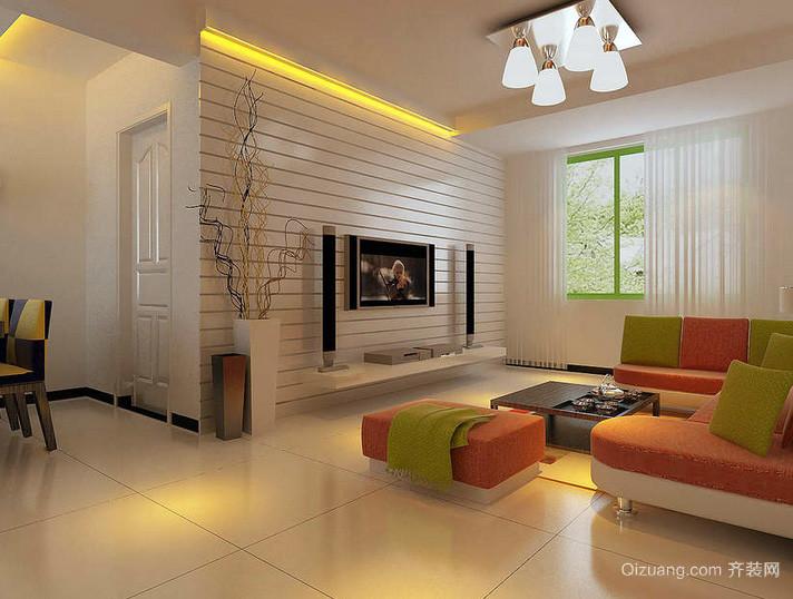 2016别墅精致型客厅装修效果图