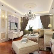 淡色调客厅设计图片