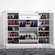 纯白色调鞋柜造型图