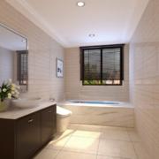 100平米现代欧式大户型卫生间装修效果图欣赏