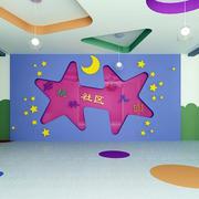 幼儿园70平米展厅文化墙装修效果图
