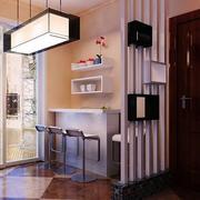 时尚大气单身公寓吧台装修设计效果图