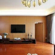 简约都市大户型人家客厅隐形门装修图