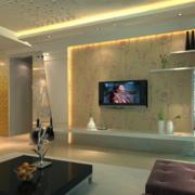 现代欧式大户型硅藻泥电视背景墙装修效果图鉴赏