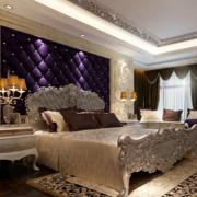80平米小户型欧式卧室软包背景墙装修效果图