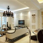 2016欧式大户型唯美的客厅背景墙装修效果图