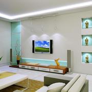 复式楼现代简约风格电视背景墙装饰
