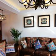 美式客厅沙发装饰画