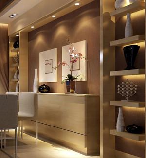 2016欧式大户型客厅玄关酒柜隔断装修效果图实例