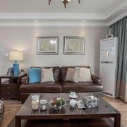 美式客厅皮质沙发欣赏
