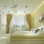 浅色系90平米单身公寓家居卧室壁灯图片