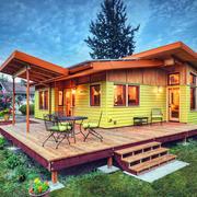 80平米小户型美式乡村风格木屋别墅外观图