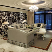 现代暖色调室内造型图