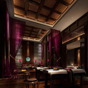 中式古典大型美容院装修效果图