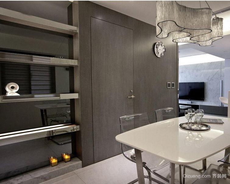 冷色调143平米餐厅隐形门装修效果图