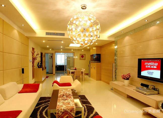 120平米婚房客厅创意球形灯饰装修效果图