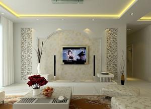 90平米各式各样简约电视墙背景装修效果图