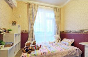 96平米家居田园儿童房间壁纸装修图