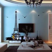 地中海风格蓝色系电视背景墙装饰