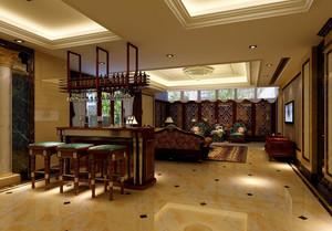 2016美式豪华别墅吧台装修设计效果图
