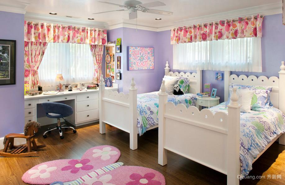双胞胎简约小户型儿童房间装修效果图