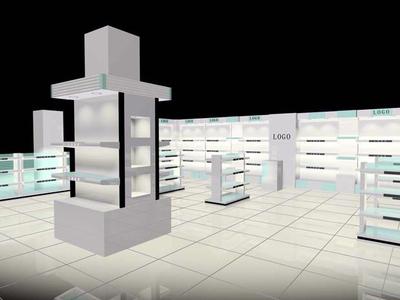 70平米现代简约风格化妆品柜台装修效果图