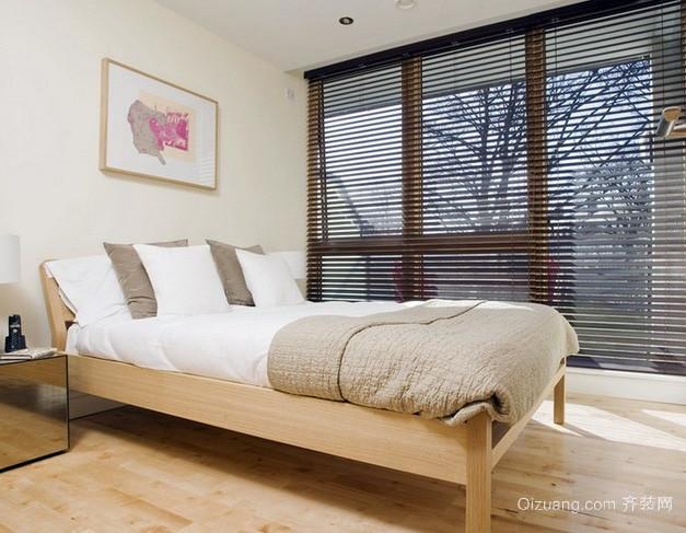 两室一厅简朴卧室百叶窗帘装修效果图