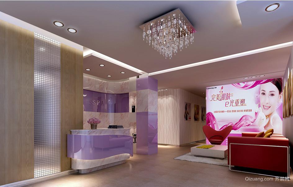 简约现代美容院大厅装修效果图