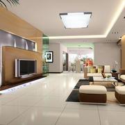 复式楼日式简约风格客厅灯饰装修效果图