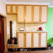 暖色调鞋柜整体设计