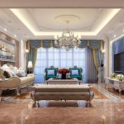 精致的欧式120平米客厅装修效果图欣赏
