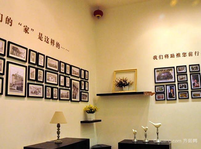 后现代风格暖色系公司文化墙装修效果图高清图片