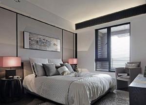 单身公寓后现代风格卧室百叶窗帘装修图