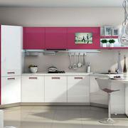 现代简约风格粉色系橱柜装饰