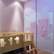 现代简约儿童房粉色衣柜