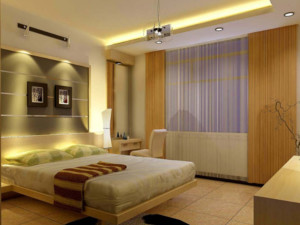70平米小户型欧式卧室床头背景墙装修效果图鉴赏