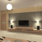 90平米现代欧式大户型客厅背景墙装修效果图鉴赏
