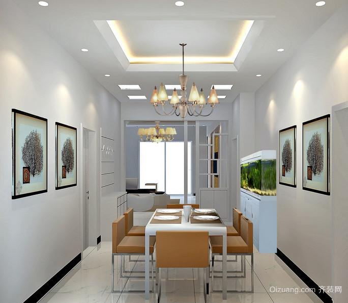 70平米现代小户型欧式餐厅装修效果图欣赏