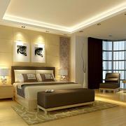 复式楼现代简约风格卧室弧形飘窗装修效果图