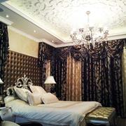 欧式简约深色卧室灯饰装饰