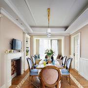 美式典雅餐厅图片