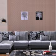 2016现代欧式大户型客厅沙发背景墙效果图