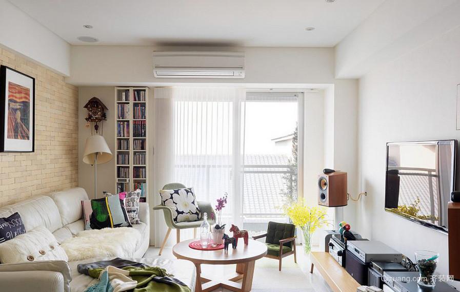休闲时尚:现代简约三房两厅装修样板间