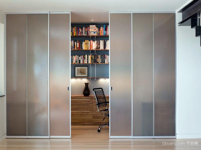 016两室一厅过道隐形门装修效果图 齐装网装修效果图 -颜色