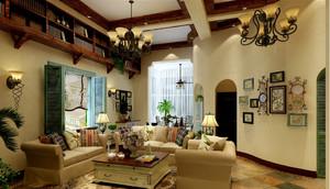 田园风格小别墅家居客厅壁灯装修图片